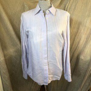 Zanella lavender ITALY textured stripe 8 shirt top
